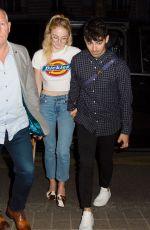 SOPHIE TURNER and Joe Jonas Arrives at a Hotel in Paris 06/20/2019