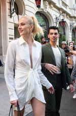 SOPHIE TURNER and Joe Jonas Out and About in Paris 06/24/2019