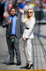 SOPHIE TURNER Arrives at Jimmy Kimmel Live in Los Angeles 06/04/2019