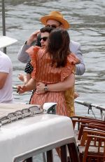 SOPHIE TURNER, PRIYANKA CHOPRA and Nick and Joe Jonas on at Prewedding Party at Boat Cruise on Seine River in Paris 06/24/2019