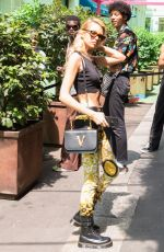 STELLA MAXWELL Arrives at Versace Show in Milan 06/15/2019
