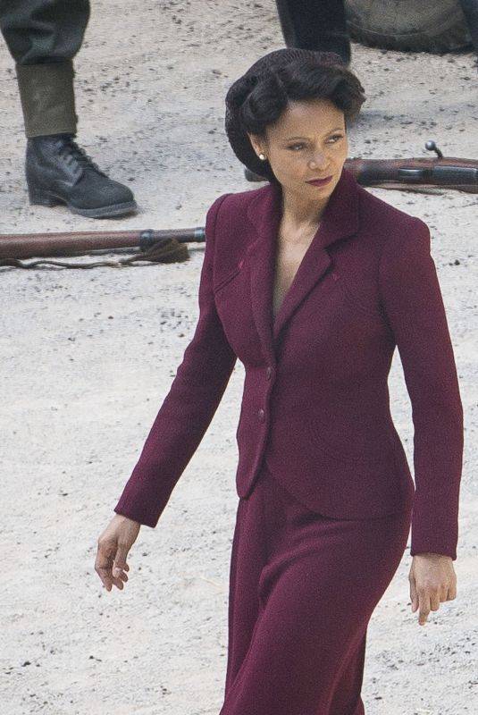 THANDIE NEWTON on the Set of Westworld in Spain 05/25/2019