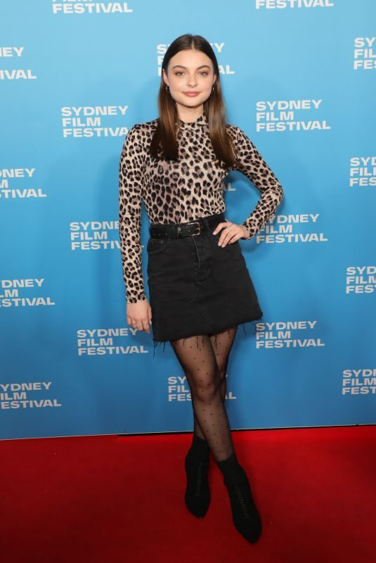 TIARNIE COUPLAND at Judy and Punch Premiere at 66th Sydney Film Festival 06/08/2019