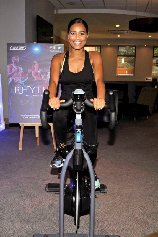 TISHA MERRY at VIP Rhythm Gym Launch in Manchester 06/24/2019