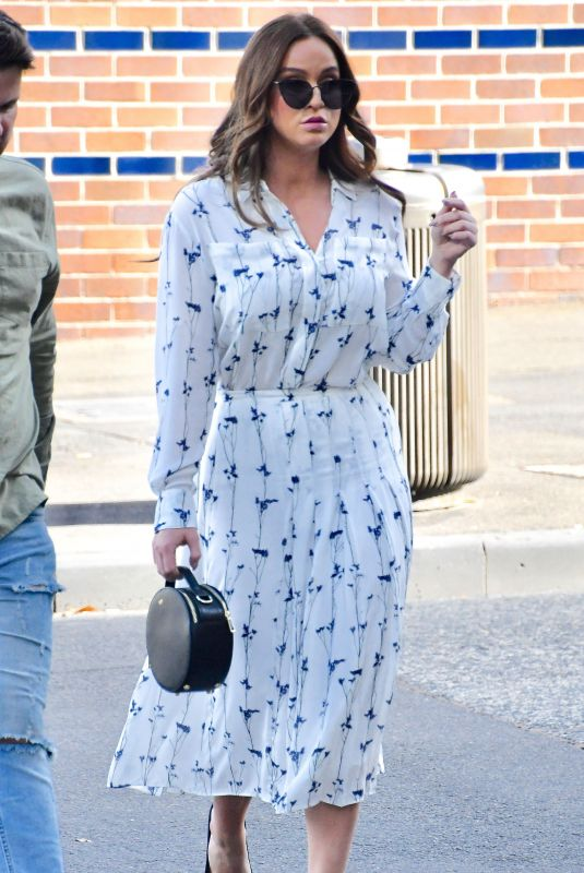 VICKY PATTISON Leaves Channel 10 Studios in Sydney 06/20/2019