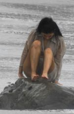 Wet KYLIE JENNER on the Photoshoot in Malibu 06/05/2019