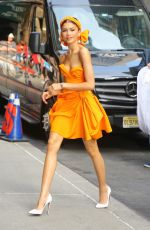 ZENDAYA COLEMAN Outside Late Show with Stephen Colbert in New York 06/25/2019