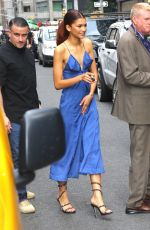 ZENDAYA Leaves Late Show with Stephen Colbert