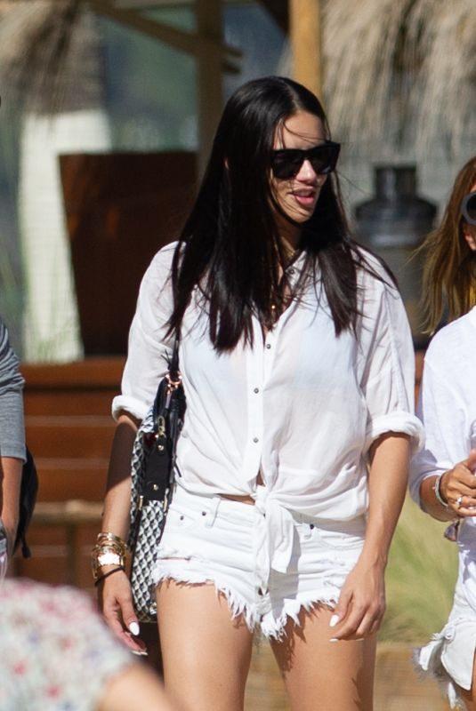 ADRIANA LIMA in Cutoff Shorts Out in Marbella 07/28/2019