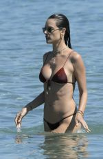 ALESSANDRA AMBROSIO in Bikini at a Beach in Mykonos 07/13/2019