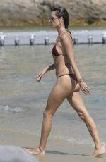 ALESSANDRA AMBROSIO in Bikini at a Beach in Mykonos 07/13/2019