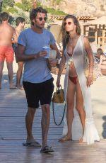ALESSANDRA AMBROSIO in Bikini on the Beach in Mykonos 07/13/2019