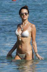 ALESSANDRA AMBROSIO in Bikinis on the Beach in Mykonos 07/18/2019