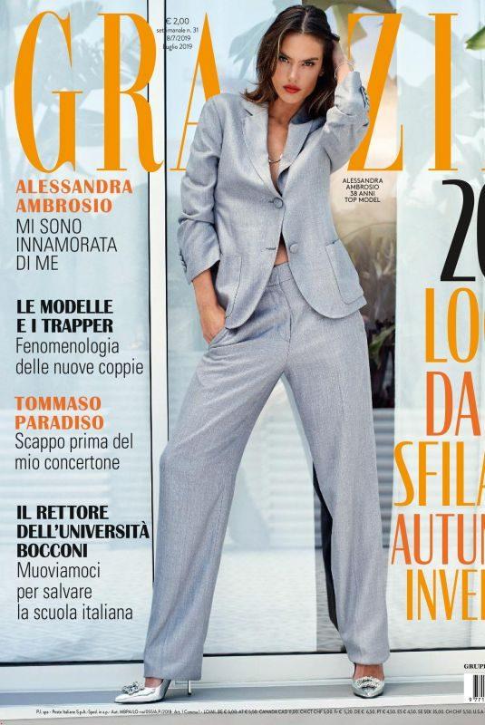 ALESSANDRA AMBROSIO in Grazia Magazine, Italy July 2019