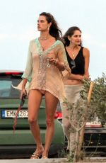 ALESSANDRA AMBROSIO Out and About on Mykonos Island 07/16/2019