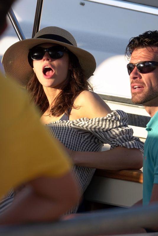 ALEXANDRA DADDARIO and Brendan Wallace at a Yacht in Capri 07/07/2019