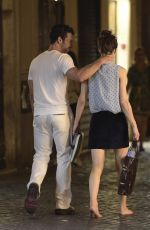 ALEXANDRA DADDARIO and Brendan Wallace Out for Dinner in Rome 07/07/2019