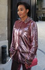 AMANDLA STENBERG Leaves Maison Valentino Show in Paris 07/03/2019