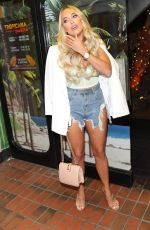 AMBER TURNER Arrives at VO5 x Love Island Party in London 07/11/2019