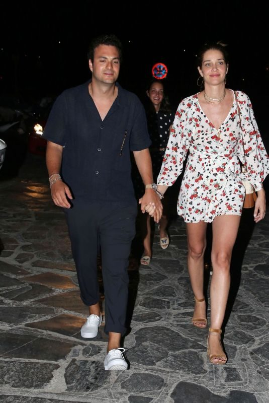 ANA BEATRIZ BARROS and Karim El Chiaty Night Out in Mykonos 07/09/2019