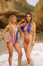 ANA BRAGA and SIMONA PAPADOPOULOS in Swimsuits on the Beach in Malibu 06/30/2019