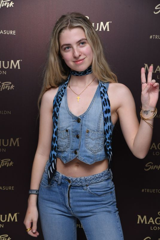 ANAIS GALLAGHER at Magnum Pleasure Store Launch Party in London 07/10/2019