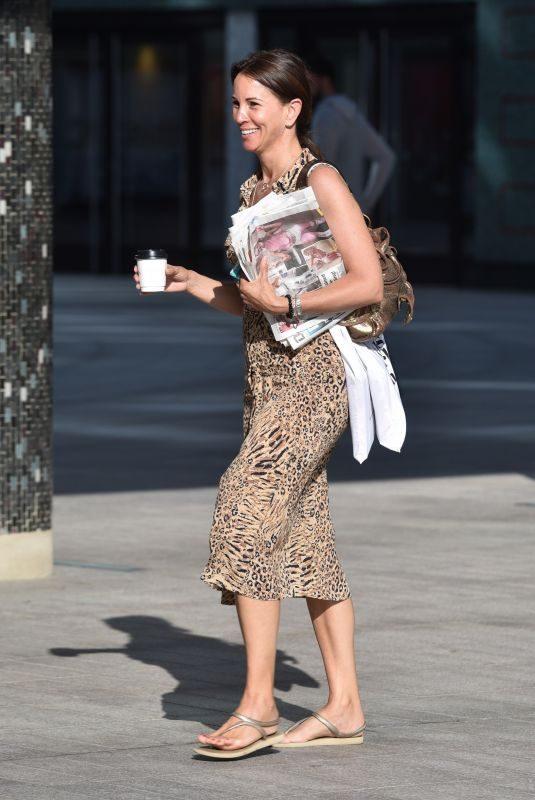 ANDREA MCLEAN Arrives at ITV Studios in London 07/23/2019