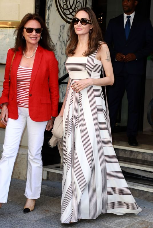 ANGELINA JOLIE and JACQUELINE BISSET Out on Champs Elysees in Paris 07/09/2019