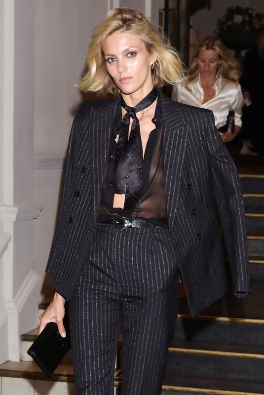 ANJA RUBIK Leaves Vogue Party in Paris 07/02/2019