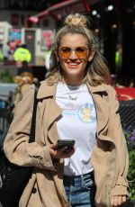 ASHLEY ROBERTS in Ripped Jeans Out in London 06/27/2019