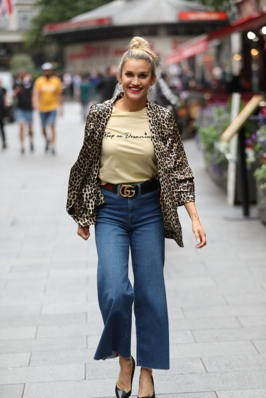 ASHLEY ROBERTS Leaves Global Radio in London 07/10/2019