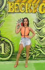 BECKY G Promotes Her New Song Dollar in Miami 07/31/2019