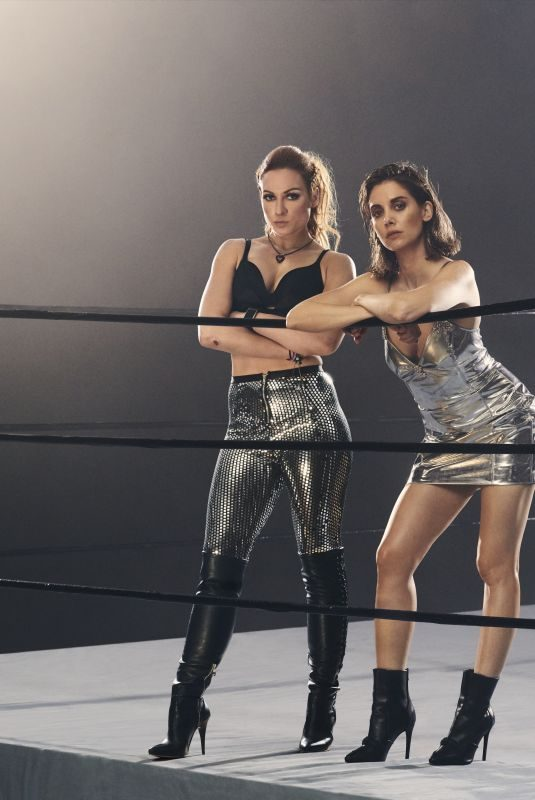 BECKY LYNCH and ALISON BRIE in ESPN Magazine, August 2019