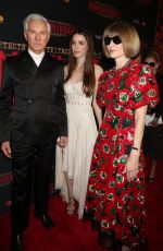 BEE SHAFFER and ANNA WINTOUR at Opening Night Arrivals for Moulin Rouge in New York 07/25/2019