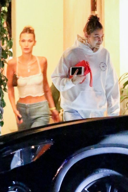 BELLA and GIGI HADID Leaves 4th of July Party in Los Ange;es 07/04/2019