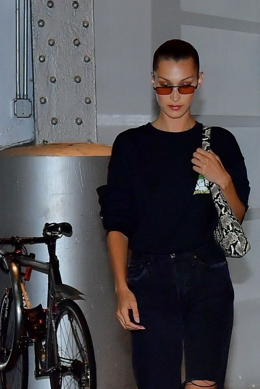BELLA HADID Heading to a Michael Kors Photoshoot in New York 07/11/2019