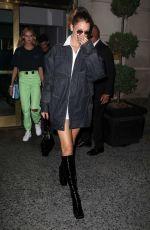 BELLA HADID Leaves Her Hotel in New York 07/18/2019