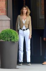 BELLA HADID Out and About in New York 07/17/2019
