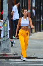 BELLA HADID Out and About in New York 07/22/2019