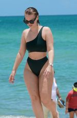 BIANCA ELOUISE in Bikini on the Beach in Miami 07/12/2019