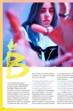 BILLIE ELLISH in Elle Girl Magazine, Russia August 2019