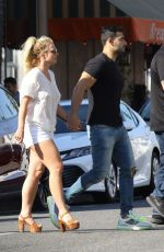BRITNEY SPEARS and Sam Asghari Out in Beverly Hills 07/12/2019