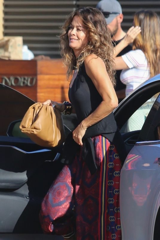 BROOKE BURKE Arrives at Nobu in Malibu 07/11/2019