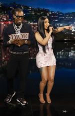 CARDI B at Jimmy Kimmel Live 07/17/2019