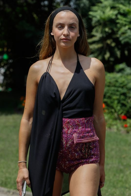CARLA GINOLA Arrives at Redemption Fashion Show in Paris 06/30/2019