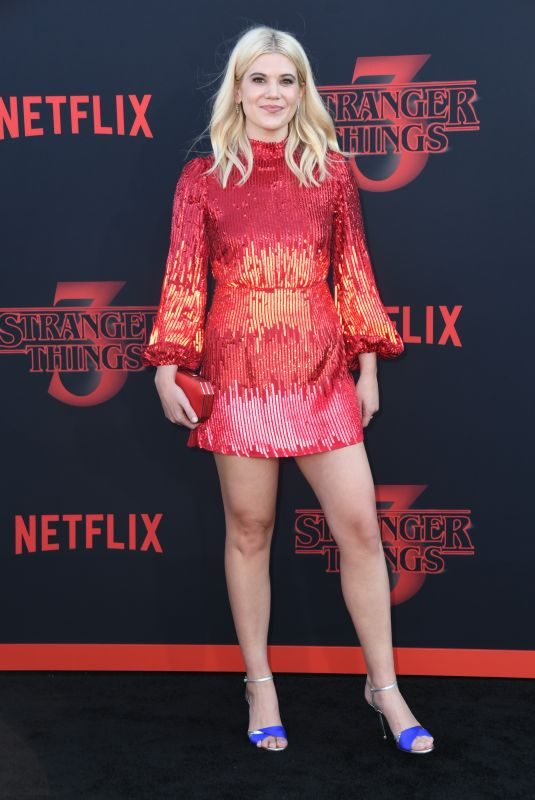 CAROLINE ARAPOGLOU at Stranger Things, Season 3 Premiere in Santa Monica 06/28/2019