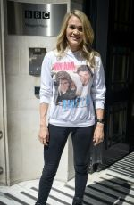 CARRIE UNDERWOOD at BBC Radio 2 in London 07/04/2019