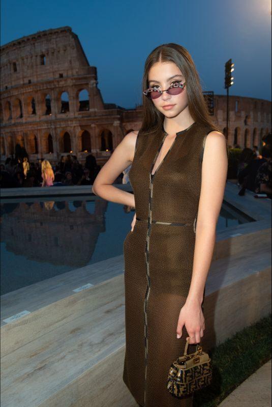 CARYS DOUGLAS at Fendi Fashion Show in Rome 07/04/2019