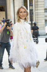 CELINE DION Arrives at Valentino Haute Couture Fall/Winter 2019/2020 Show in Paris 07/03/2019