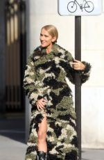 CELINE DION at a Photoshoot on the Streets of Paris 06/30/2019